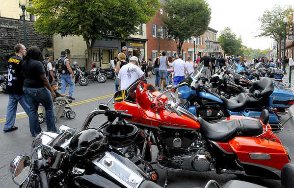 With the streets of downtown Martinsburg closed off, bikes and riders showed up from all over to take part in the Martinsburg Bike Night sponsored by the Blue Knights of Martinsburg W.Va.