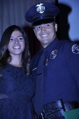 Justin Mahaffey with his wife, Amanda.