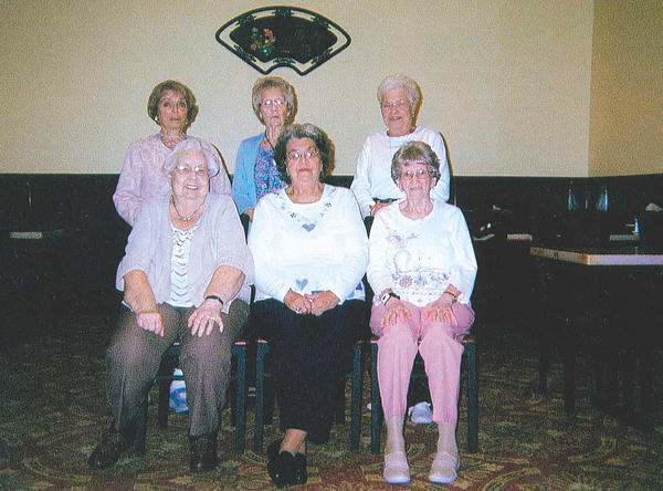 The Hagerstown High School Class of 1946 reunion committee includes, front row, from left, Ruth Glass Bohn, Thelma Middlekauff Mauk and Virginia Shrader Rodgers; and back row, Barbara Gibney Freedman, Betty McDonough Schindel and Marie Snyder Stover. Also on the committee, but not pictured was Janice Shiffler Rice, who died Aug. 15.