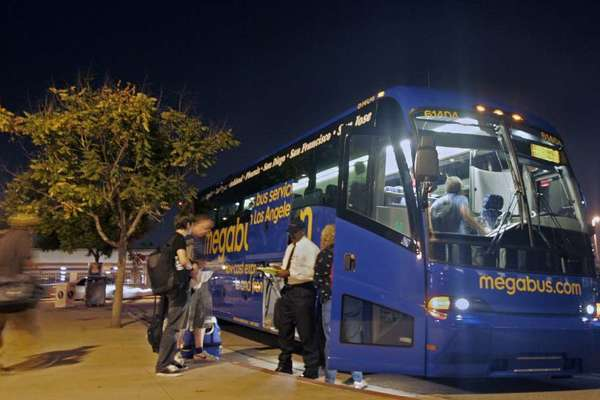 Megabus passengers get on board for a San Francisco trip. (File phot)