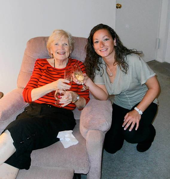 Jessica Ziegler, 25, enjoys spending time with her grandma, Sue Schaeffer, both of Allentown.