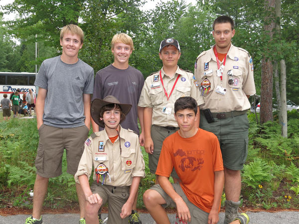 Members of Harbor Springs Boy Scout Troop 55 who attended the 2013 National Boy Scout Jamboree at the Summit Bechtel Reserve in West Virginia are (back row, from left) Sam Bailey, John Bailey, Brandon Goldsmith, Ian Betterly; (front row) Kurtis Alessi and Zach Hunt.