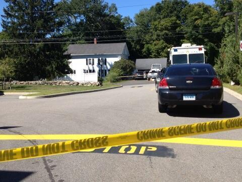 State police are investigating near this home on Stage Road in Coventry.