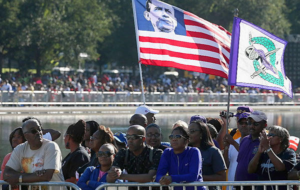 Organizers expect 100,000 people to march from the National Mall's Lincoln Memorial to the Washington Monument, passing by the Martin Luther King Jr. Memorial.