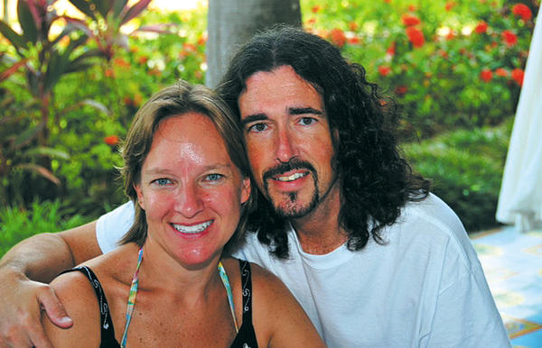 Steve and Susan Taylor enjoyed traveling together, and are seen in this picture taken in Jamaica in July 2012.