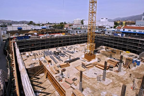 Construction at the corner of Orange and Wilson. (File photo)