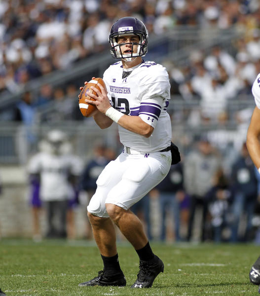 Trevor Siemian drops back to pass against Penn State.