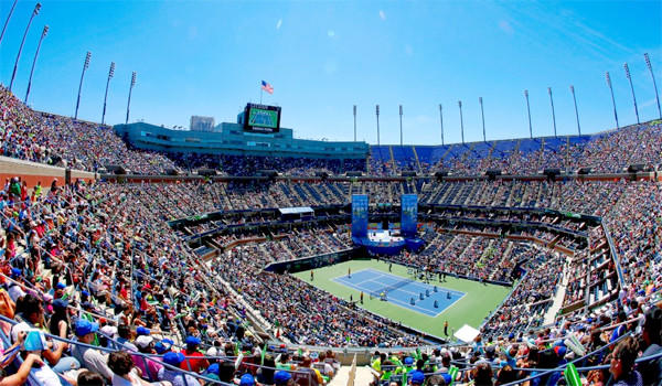 Arthur Ashe Stadium is seen during Arthur Ashe Kids' Day prior to the start of the 2013 US Open at the USTA Billie Jean King National Tennis Center.