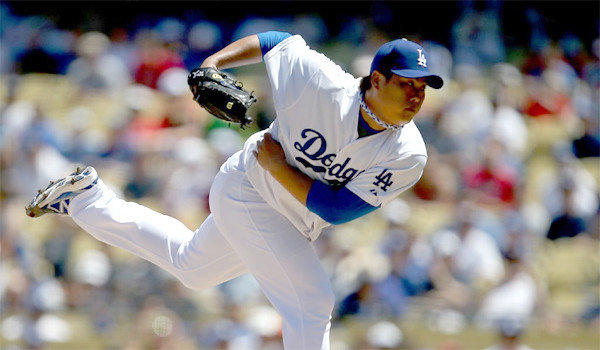 Hyun-Jin Ryu gave up four runs in the first inning of the Dodgers' loss to the Boston Red Sox, 4-2, on Saturday.