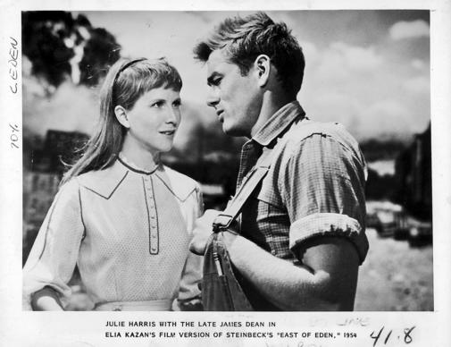 "Julie Harris with James Dean in the 1955 movie ""East"
