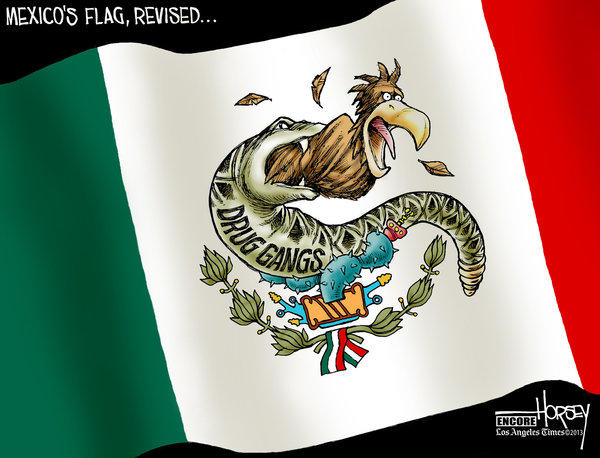 Mexico is locked in a seemingly endless war with drug cartels, as this Horsey cartoon from 2010 attests.