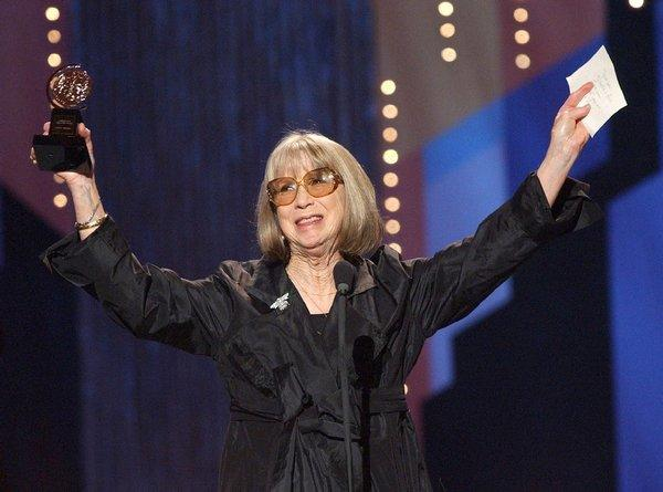 Julie Harris receives a special Tony Award for lifetime achievement in 2002. The celebrated stage, screen and television actress died Saturday.