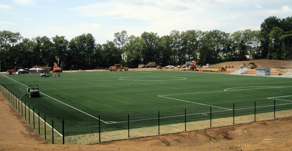 The new turf soccer field at Shepherd University in Shepherdstown, W.Va., will host its first game on Sept. 5.