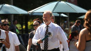 Kelsey Grammer films 'Transformers 4' in Chicago