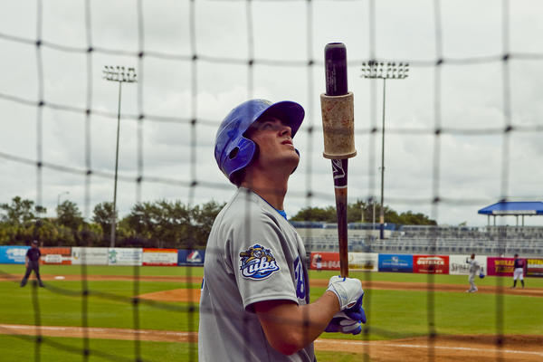 Kris Bryant during the Daytona Cubs game against the Tampa Yankees at George M. Steinbrenner Field.
