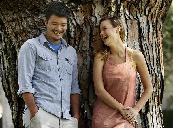 Writer-director Destin Daniel Cretton, left, and actress Brie Larson, photographed in Beverly Hills.