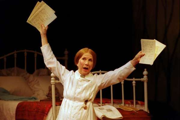 "Julie Harris in ""The Belle of Amherst"" at the Laguna Playhouse in 2000."