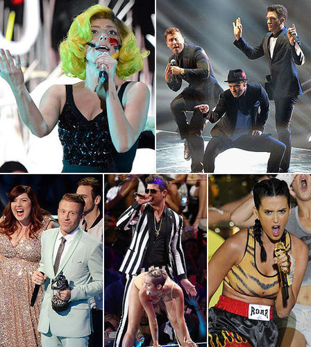 """Lady Gaga gave a powerhouse opening performance, Justin Timberlake owned most of the rest of the show ... and Miley Cyrus gave the 2013 Video Music Awards audience nightmare material for years to come. All in a night's work for the VMAs -- here are some of the best and worst moments from the show. <br><br> <i>-- <a href=""""http://twitter.com/Zap2it"""">The Zap2it team</a></i> <br><br> <b>Related:</b> <br><br> <a href=""""http://www.zap2it.com/news/pictures/zap-mtv-video-music-awards-2013-red-carpet-arrival-pics-20130825,0,4161390.photogallery"""">VMAs red carpet pics</a><br> <a href=""""http://www.zap2it.com/news/pictures/zap-2013-mtv-video-music-awards-nominees-and-winners-20130820,0,861897.photogallery"""">All the VMA winners</a>"""