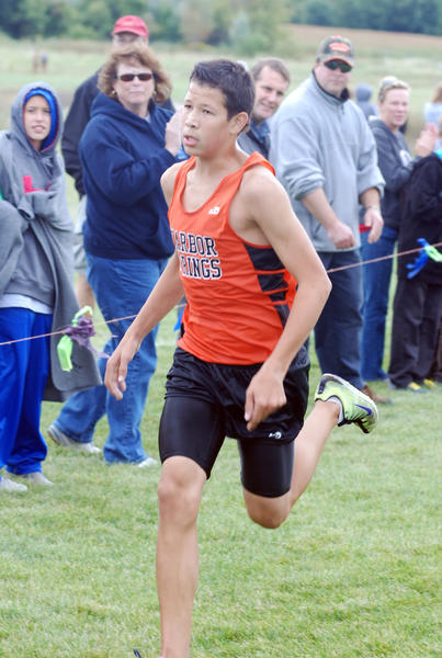 Harbor Springs junior Marcus Garrow won the Ryan Shay Memorial cross country Division III two-mile race as he finished in 10 minutes, 50.3 seconds Saturday.