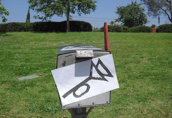 "The Trystero symbol from Thomas Pynchon's ""The Crying of Lot 49,"" spotted on ""Pynchon in Public Day"" celebrated on the author's May 8 birthday."