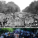 March on Washington crowds, then and now
