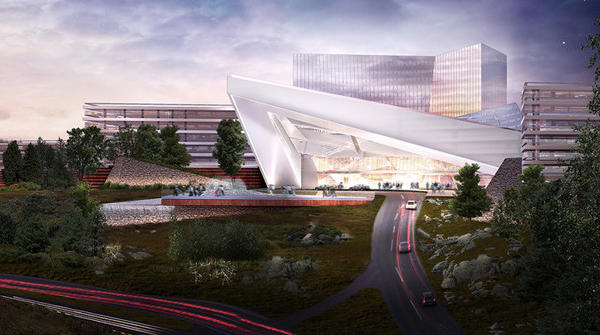 Renderings of the proposed plan for Mohegan Sun Massachusetts in Palmer, Mass.