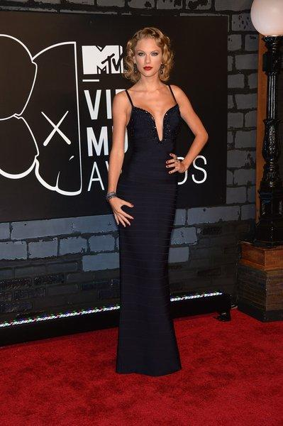 Taylor Swift in Herve Leger at the MTV Video Music Awards on Sunday.