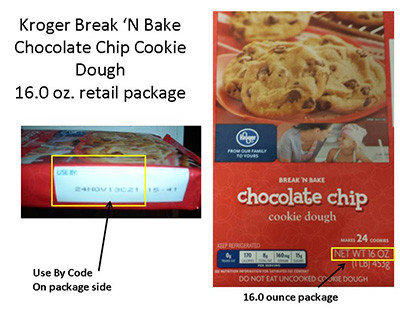 ConAgra Foods recalled its Kroger Break 'N Bake chocolate chip cookie dough because some packages contained peanut butter cookie dough instead. The packages were sold in 26 states.