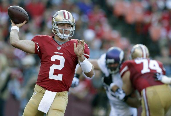 San Francisco 49ers quarterback Colt McCoy.