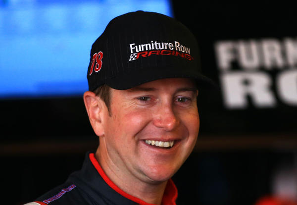NASCAR driver Kurt Busch during practice for the Pure Michigan 400 at Michigan International Speedway.