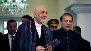Afghan, Pakistani leaders meet, pledge cooperation