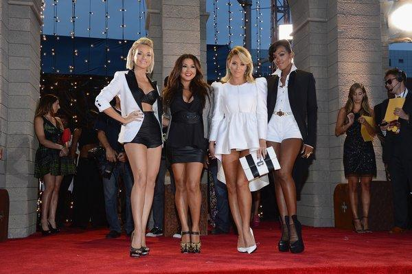 Shannon Bex, Aundrea Fimbres, Aubrey O'Day and Dawn Richard of Danity Kane, at the 2013 MTV Video Music Awards in New York City, are planning a comeback of their own.