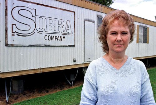 Wilma Subra, a chemical analyst, stands outside her New Iberia, La., office in 1999. Now 69, she is still working to rein in environmental degradation along Cancer Alley, an eye-watering corridor of more than 150 industrial facilities along the Mississippi River between New Orleans and Baton Rouge that produce a quarter of the nation's petrochemicals.