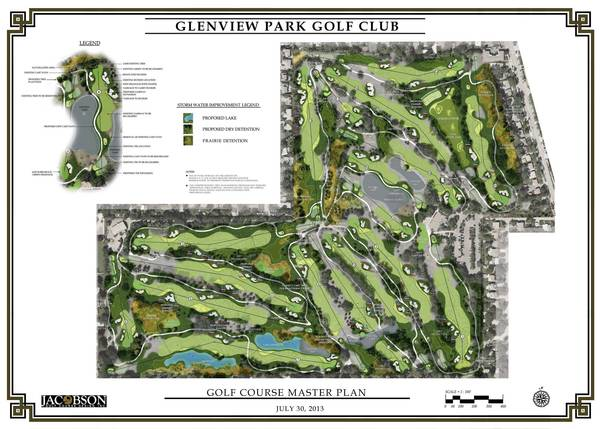 A master plan of the proposed renovations at the Glenview Golf Park Club.