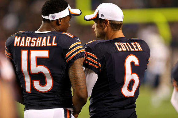 Brandon Marshall and Jay Cutler