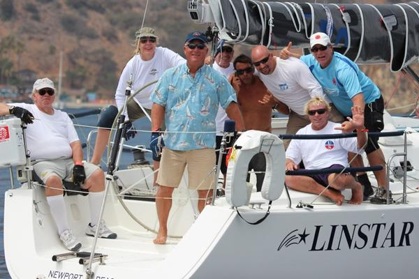The crew of Linstar at this year's Long Point Race Week.