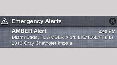A mass Amber Alert was send out Monday to people throughout Florida.
