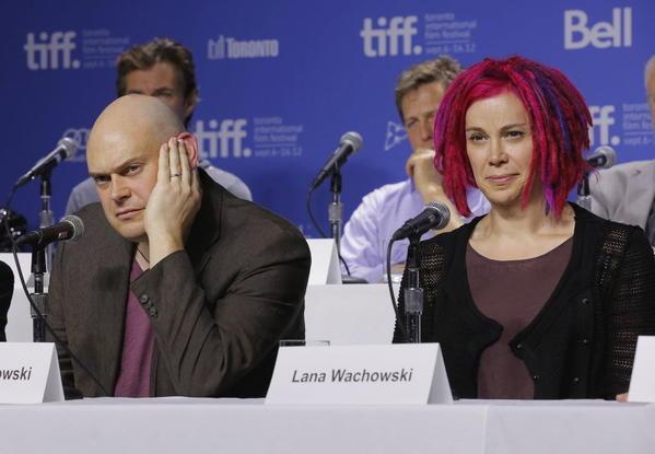 Directors Andy Wachowski (left) and Lana Wachowski