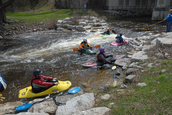 Paddlers gather in the Bear River Valley Recreation Area, which could be one of the features listed along the Lake Michigan water trail.