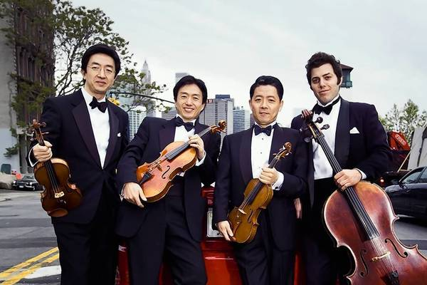 The Shanghai Quartet, Weigang Li, violin; Honggang Li, viola; Yi-Wen Jiang, violin; Nicholas Tzavaras, cello, plays Saturday and Sunday at Music Mountain in Falls Village.