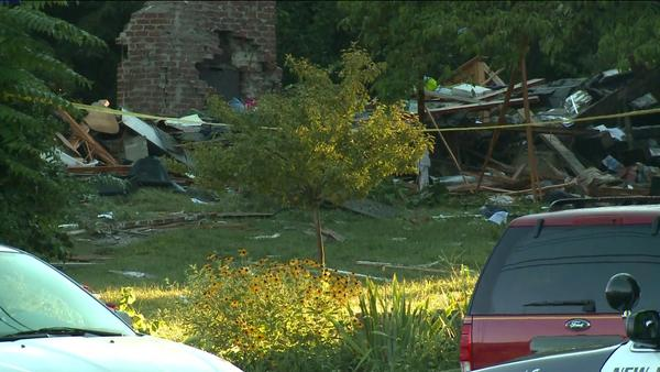 A house explosion leveled the house at 109 Sunny Valley Road, killed one and injured two.
