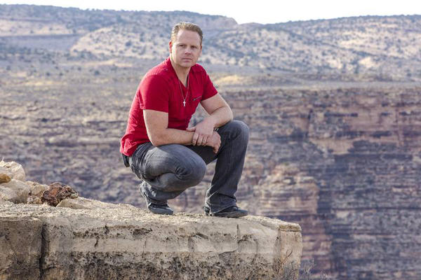 "Nik Wallenda, star of ""Skywire Live With Nik Wallenda,"" at the Grand Canyon."