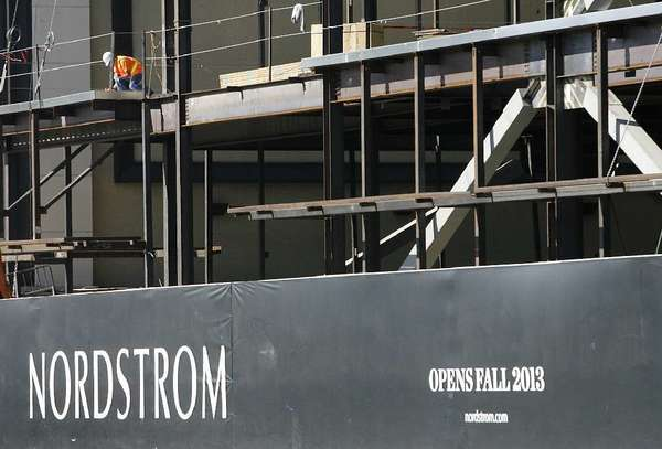 The Nordstorm at the Americana at Brand under construction. (File photo)