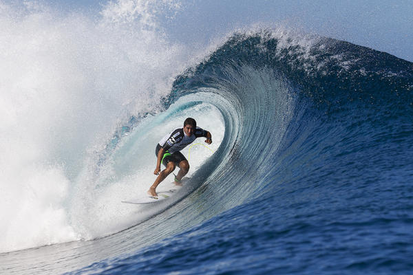 Miguel Pupo of Brazil competes in August at the Billabong Pro competition in Tahiti. Billabong wrote down the value of its namesake brand to zero.