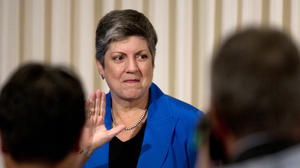 Homeland Security chief Janet Napolitano bids farewell