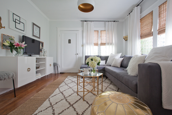 Vanessa De Vargas transformed her house with a simple palette of gray, white and gold.