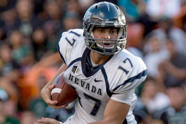 Nevada quarterback Cody Fajardo, who led Anaheim Servite High School to a state title in 2009, passed for 2,786 yard while also rushing for another 1,121 yards last season for the Wolf Pack.