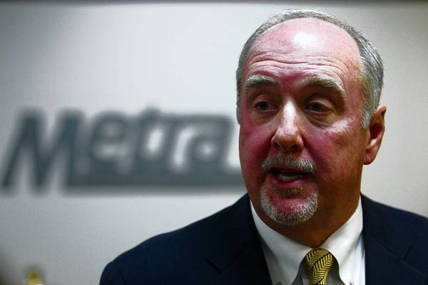 Brad O'Halloran resigned as chairman of the Metra board this month.