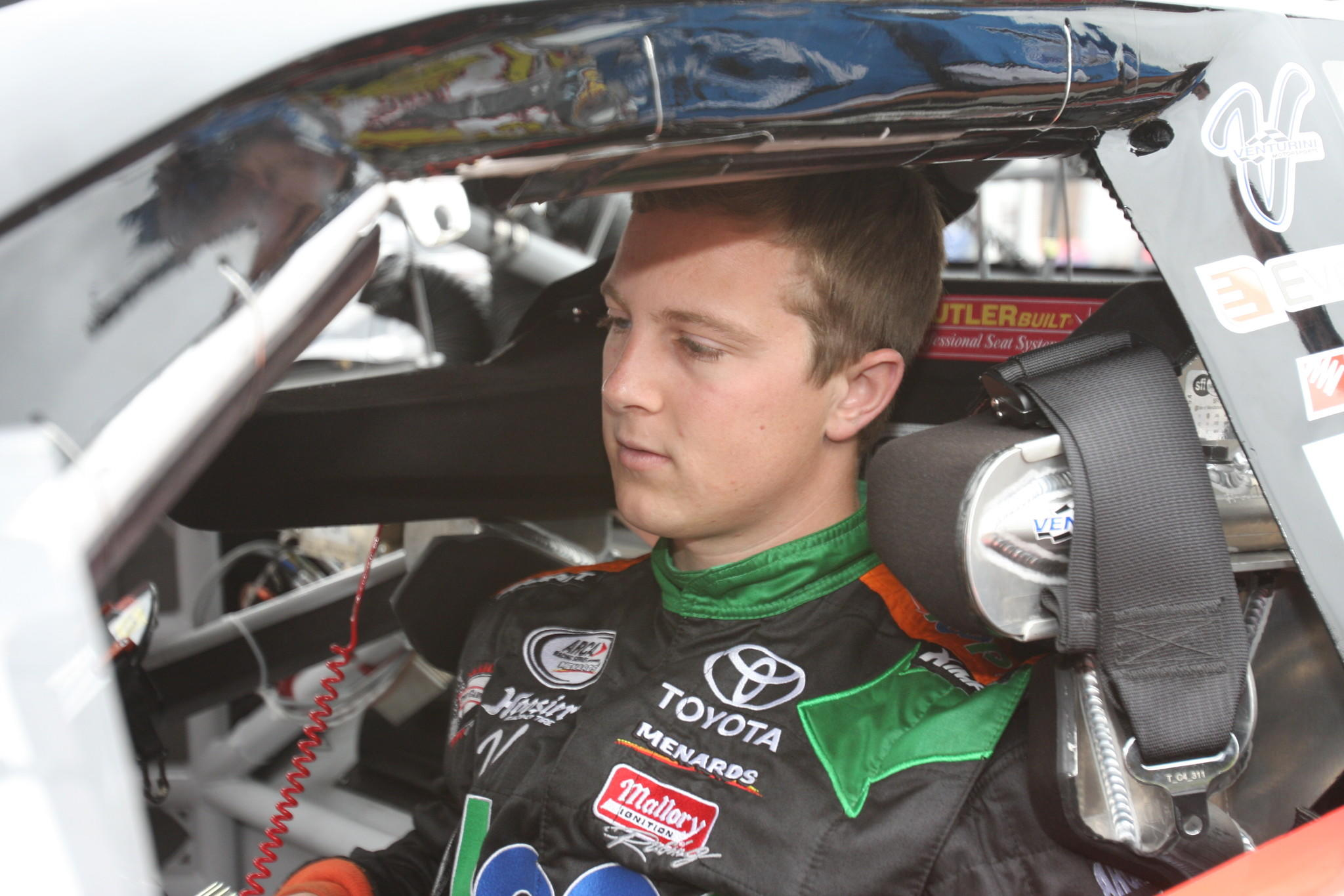 Justin Boston, seen here as he prepares for the Talladega ARCA 200 last year.