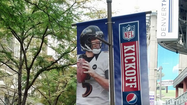 Broncos' fans irked by Joe Flacco banners in downtown Denver